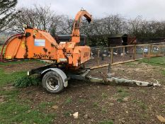 DS -QUALITY 2004 JENSEN DIESEL TURNTABLE CHIPPER, QUALITY TRAILER