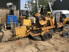 RAYCO STUMP GRINDER TREE GRINDER WOODSTER OHIO RG1642 RUNS AND WORKS