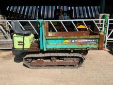 YANMAR C12R-A TRACKED DUMPER, RUNS, WORKS AND TIPS, SHOWING 411 HOURS (UNVERIFIED) *PLUS VAT*