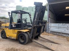 YEAR 2006, DAEWOO DOOSAN D70S 7000 KG TWIN WHEEL DIESEL FORKLIFT YELLOW/BLACK *PLUS VAT*