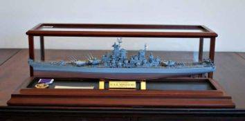 FRANKLIN MINT: USS MISSOURI AND DISPLAY CASE *NO VAT*