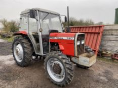 MASSEY FERGUSON 360 TRACTOR, 4 WHEEL DRIVE, YEAR 1987/88, STARTS, RUNS & DRIVES WELL - EX NURSERY
