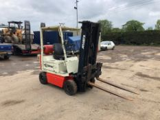KALMAR 1.75 TON GAS FORKLIFT, GOOD TRANSMISSION, AND HYDRAULICS *PLUS VAT*