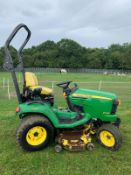 2011/11 REG JOHN DEERE X749 ULTIMATE 4X4 WHEEL STEER RIDE ON LAWN MOWER *PLUS VAT*