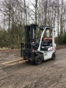 2013 TCM 1.8 TON FORKLIFT, SIDE SHIFT, CONTAINER SPEC, 3 STAGE MAST *PLUS VAT*