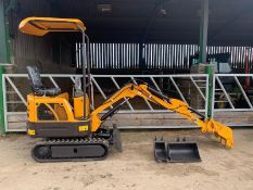 2020 - NEW & UNUSED MINI TRACKED EXCAVATOR MICRO RHINOCEROS XN08 C/W 3 X BUCKETS *PLUS VAT*