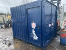 2011 45 KVA CONTAINERISED GENERATOR GENSET 10FT LOCKABLE CONTAINER WITH FUEL BOWSER, RUNS WORKS