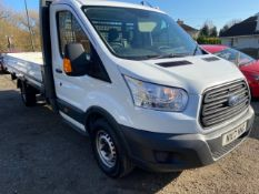 2017/17 REG FORD TRANSIT 350 DROP-SIDE LORRY 2.0 DIESEL, SHOWING 1 FORMER KEEPER *NO VAT*