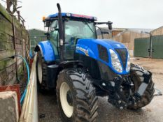 2013/63 REG NEW HOLLAND T7.200 TRACTOR, SHOWING 1 FORMER KEEPER, RUNS AND WORKS AS IT SHOULD.