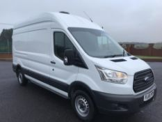 2015/65 REG FORD TRANSIT 125T350 LWB 2.2 DIESEL WHITE PANEL VAN, SHOWING 1 FORMER KEEPER *PLUS VAT*