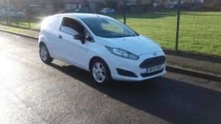 2015/15 REG FORD FIESTA ECONETIC TECH TDCI 1.6 CAR DERIVED VAN, SHOWING 0 FORMER KEEPERS *NO VAT*