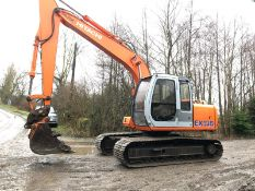 HITACHI EX13,5 13 TON EXCAVATOR, RUNS, WORKS & DIGS, QUICK HITCH, GOOD TRACKS & SPROCKETS, YEAR 1998