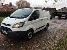 2015/65 REG FORD TRANSIT CUSTOM 270 ECO-TECH 2.2 DIESEL WHITE PANEL VAN, SHOWING 0 FORMER KEEPERS