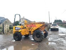 THWAITES 6 TON STRAIGHT TIP DUMPER, YEAR 2004, RUNS, DRIVES, TIPS, 4 WHEEL DRIVE *PLUS VAT*