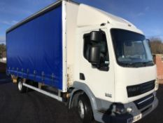 2008/58 REG DAF LF 45.160 7.5 TON 20FT CURTAIN SIDE TRUCK WITH UNDERFLOOR TAIL LIFT *PLUS VAT*