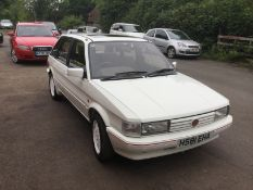 1991/H REG ROVER MAESTRO MG I 2.0 PETROL WHITE 5 DOOR HATCHBACK, SHOWING 2 FORMER KEEPERS *NO VAT*