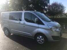 2016/66 REG FORD TRANSIT CUSTOM 290 LIMITED 2.0 DIESEL 6 SEATER PANEL VAN, SHOWING 1 FORMER KEEPER