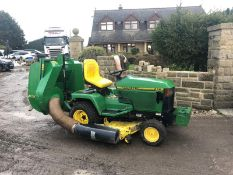 JOHN DEERE 415 RIDE ON LAWN MOWER, RUNS & WORKS, CUTS AND COLLECTS WELL *NO VAT*
