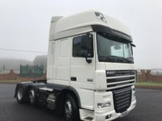 2011/61 REG DAF XF 105.460 SUPER SPACE TRACTOR UNIT 6X2 MANUAL GEARBOX AIR CON *PLUS VAT*