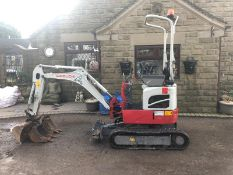 TAKEUCHI TB210R TRACKED 1 TON MINI DIGGER / EXCAVATOR, YEAR 2016, EXPANDING TRACKS *PLUS VAT*
