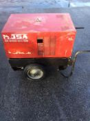 MOSA GE 6000 SX/GS SUPER SILENCED WHEELED GENERATOR, 6 KVA, 3000 RPM, 50 Hz, RUNS AND WORKS *NO VAT*