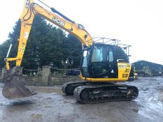 2015 JCB JS130LC 13 TON TRACKED CRAWLER EXCAVATOR / DIGGER, IN VERY GOOD CONDITION, LOW HOURS 4620!