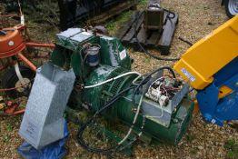 LEROY SOMER LISTER GENERATOR, 9.2 KVA 240 VOLT, FITTED WITH LISTER 2 CYLINDER ENGINE, ELECTRIC START