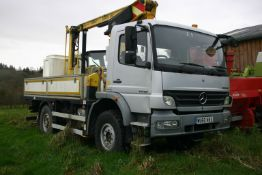 2011/60 REG MERCEDES ATEGO 1018 BLUETEC S 4.3 DIESEL 4WD TOWER WAGON, SHOWING 0 FORMER KEEPERS