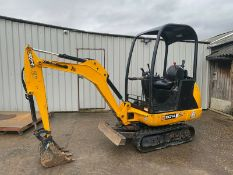 JCB 8014 CTS MINI DIGGER, YEAR 2016, ONLY 935 HOURS, COMPLETE WITH DIGGING BUCKET *PLUS VAT*