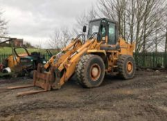 CASE 721B LOADING SHOVEL, YEAR 1996, STILL IN USE, COMES WITH FORK ATTACHMENTS *PLUS VAT*