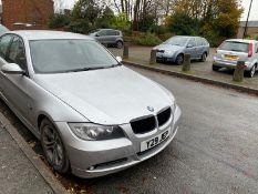 2008/08 REG BMW 320D SE 2.0 DIESEL SILVER 4 DOOR SALOON, SHOWING 5 FORMER KEEPERS *NO VAT*