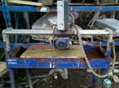 DIAMANT BOART TS350L BRIDGE SAW FOR CUTTING TILES, STONE ETC 110V