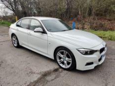 2015/65 REG BMW 318D M SPORT 2.0 DIESEL WHITE 4 DOOR SALOON, SHOWING 0 FORMER KEEPERS *NO VAT*