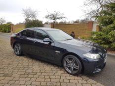2016/66 REG BMW 520D M SPORT 2.0 DIESEL AUTO BLACK 4 DOOR SALOON, SHOWING 1 FORMER KEEPER *NO VAT*