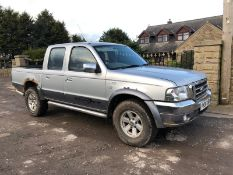 2006/06 REG FORD RANGER XLT THUNDER 2.5 DIESEL PICK-UP SILVER, 4 WHEEL DRIVE *NO VAT*