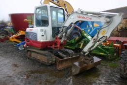 TAKEUCHI TB228 TRACKED CRAWLER COMPACT EXCAVATOR / DIGGER, YEAR 2012, ONE OWNER FROM NEW *PLUS VAT*