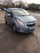 2011/61 REG CHEVROLET SPARK LS 1.2 PETROL 5 DOOR HATCHBACK, SHOWING 1 FORMER KEEPER *NO VAT*