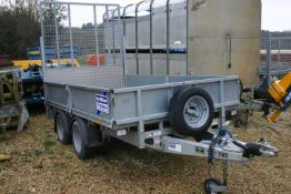 2018 IFOR WILLIAMS LM105G TWIN AXLE PLANT TRAILER 2700 KG C/W REAR RAMP *PLUS VAT*