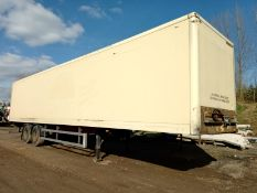 2005 CONCEPT 13.6M TANDEM BOX TRAILER. 4M HIGH, ROR DRUM BRAKES, OCT 20 MOT, GOOD TYRES *PLUS VAT*