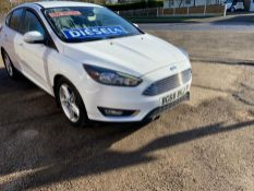 2018/68 REG FORD FOCUS TITANIUM TDCI 1.5 DIESEL 5 DR HATCHBACK, SHOWING 2 FORMER KEEPERS *NO VAT*