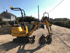 JCB 8008 TRACKED MICRO DIGGER / EXCAVATOR, YEAR 2016, LOW HOURS, RUNS & WORKS WELL, C/W 3 X BUCKETS