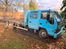 2004/53 REG ISUZU NQR 70 7.5 TON BEAVERTAIL DOUBLE CAB BLUE RECOVERY LORRY, SHOWING 2 FORMER KEEPERS