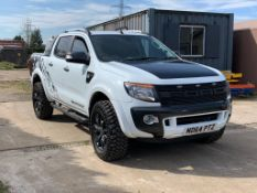 2015/64 REG FORD RANGER WILDTRAK 4X4 WHITE PICK-UP TDCI 3.2L AUTOMATIC, SHOWING 1 FORMER KEEPER