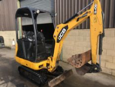 JCB 8014 CTS TRACKED MINI DIGGER / EXCAVATOR, YEAR 2013, 1383 HOURS, C/W 2 X BUCKETS *PLUS VAT*