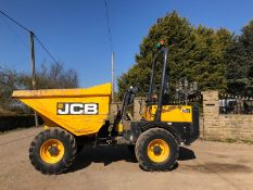 JCB 3 TON STRAIGHT TIP DUMPER, YEAR 2015, RUNS AND WORKS WELL, SHOWING 1158 HOURS *PLUS VAT*