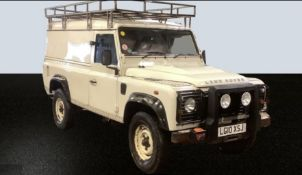 2010/10 REG LAND ROVER DEFENDER 110 HARD TOP 2.4 DIESEL LIGHT 4X4 UTILITY, SHOWING 0 FORMER KEEPERS