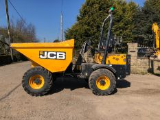 JCB 3 TON STRAIGHT TIP DUMPER, YEAR 2015, RUNS AND WORKS WELL, SHOWING 1349 HOURS *PLUS VAT*