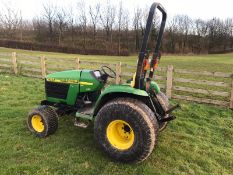 JOHN DEERE 4300 HST COMPACT TRACTOR 4WD, EX-COUNCIL, FIRST REG IN 2002 TO SOUTHERN DISTRICT COUNCIL