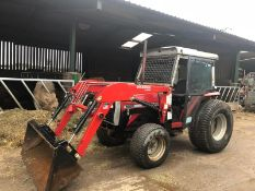 MASSEY FERGUSON 1250 COMPACT TRACTOR WITH FULL CAB AND FRONT LOADING SHOVEL *PLUS VAT*