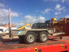 INDESPENSION TWIN AXLE PLANT TRAILER 8X4, PERFECT FOR 1.5 TON EXCAVATOR *PLUS VAT*